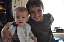 Grandsons Lughan and Ryo